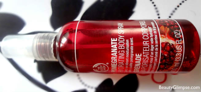 The Body Shop Pomegranate Hydrating Body Spray Review
