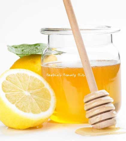 honey lemon face mask