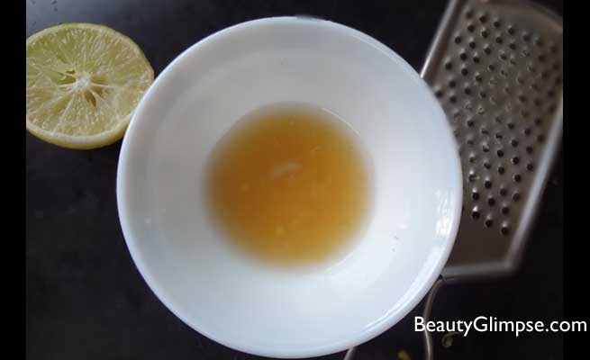 lemon honey mask