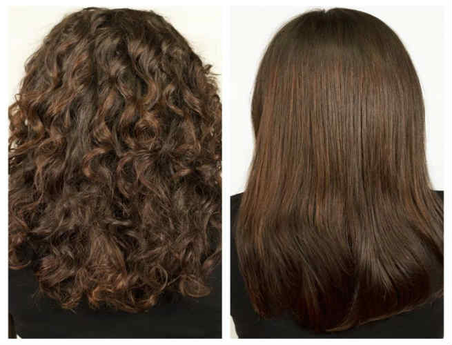 Keratin Hair Straightening Treatment (Before & After)