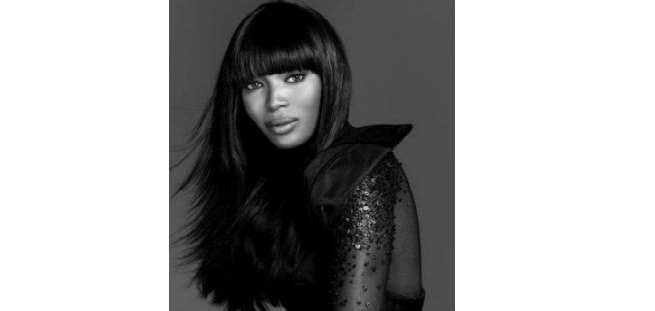 Naomi Campbell's Long Weave Hairstyle