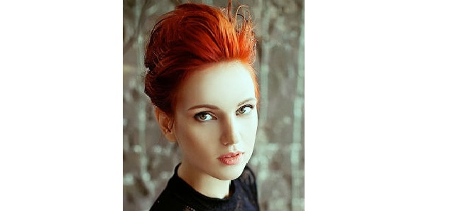 Short Tangerine Red Hair