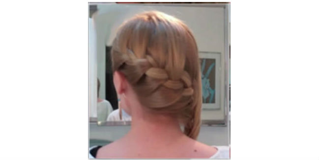 Side French Braid Twist