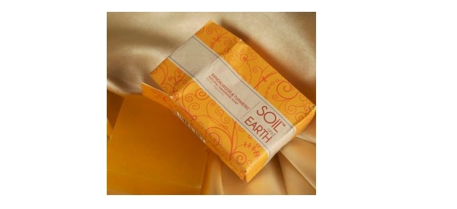 Soil and Earth Sandalwood and Turmeric Soap