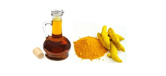 Turmeric and Mustard oil
