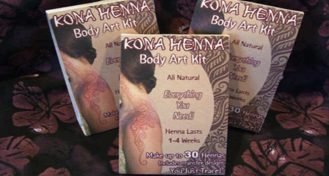 Kona Henna Body Art Kit