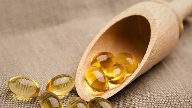Vitamin E Capsules on Skin and Hair