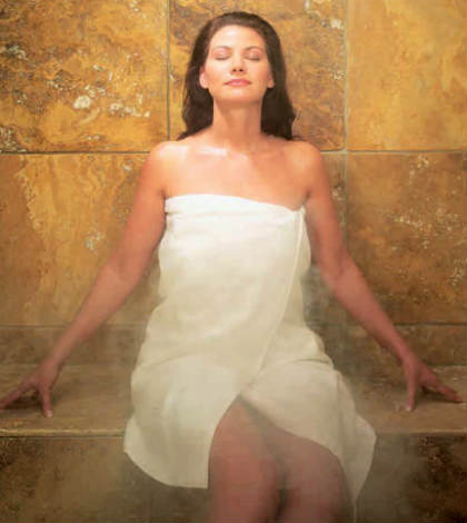 Steam Bath or Sauna to cure Acne