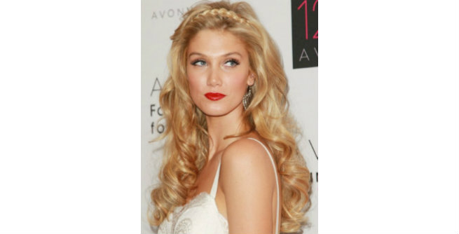 Loose Waves with Braided headband