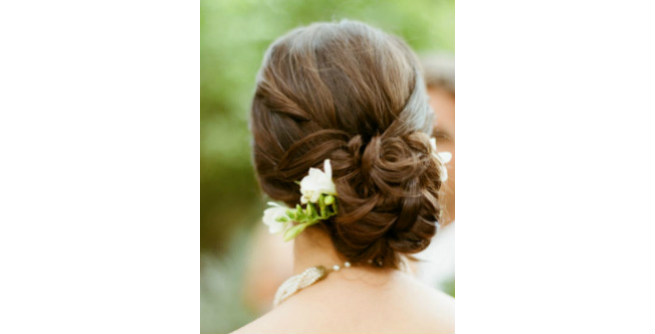 Trendy Twisted Chignon for Long Hair