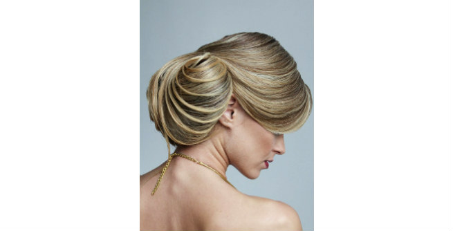 Classy Huge Low Bun with Side Sweep