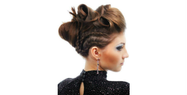 Braided Updo with Turns and Twists