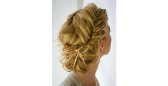 Messy Retro Updo with Twisted Sides