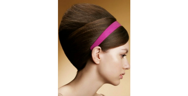 Chic Side-Swept Bouffant with Headband