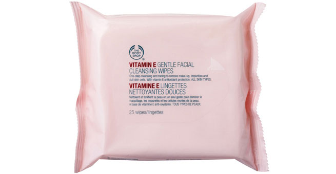 Bodyshop Vitamin E Cleansing Facial Face Wipes