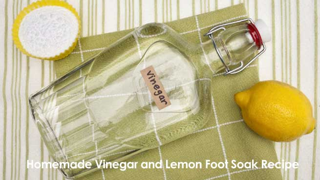 Homemade Vinegar and Lemon Foot Soak Recipe