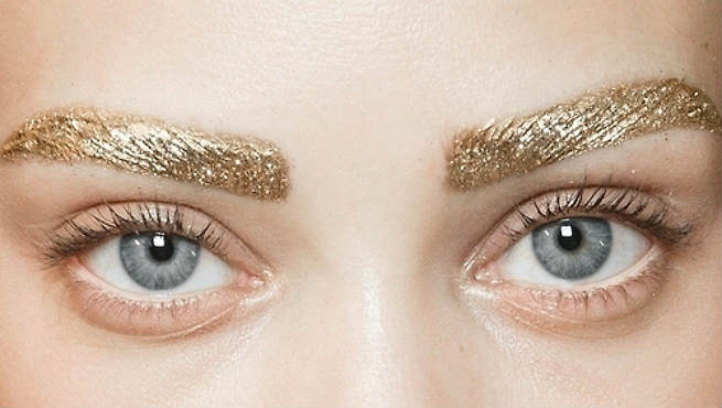 Glitter Eyebrow Makeup